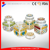 Wholesale Embossed Moisture Proof Customized Storage Glass Jar with Lid