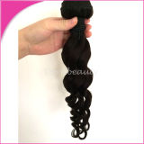 Natural Color Brazilian Loose Curl Human Hair Weft