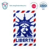 Mosaic Stitch Luggage Tag/ ID Card Holder-Liberty