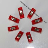 High Quality 27mm Clear Red Plastic Clips Sewing Quilting Crafts Wonder Clips for Patchwork