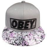 Custom Floral Peak Fitted Cap/Snapback Cap with Logo