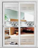 New Design Aluminum Horizontal Sliding Glass Door with Glass Panel