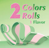 Fashion Double Colors Roller Bubbel Gum Candy