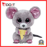 Stuffed Animals Squeaker Plush Toy Mouse with Cheese Boo