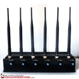 High Power 6 Antenna Adjustable WiFi 3G 4G Mobile Phone Signal Jammer