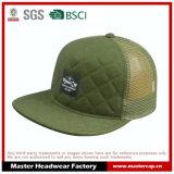 5-Panel Cotton/Mesh Flat Brim Sponge Front Snapback Hat