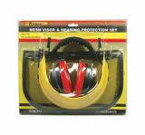 Labor Accessories Mesh Visor & Ear Muff Set Handyman Protection