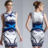 Folk Style Below Knees Short Ladies Bandage Skinny Dress