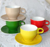 Ceramic Stoneware Coffee Cup and Saucer, Dinner Set