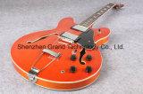 Quality 335 Orange Tiger Maple Top Jazz Electric Guitar (TJ-216)