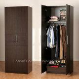 Free Standing Bedroom Wooden Wardrobe (HF-EY077)
