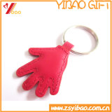 Promotion Gift Hand Shaped Leather Keychain with Custom Logo