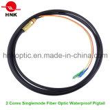 2 Cores Outdoor Singlemode Waterproof Fiber Optic Pigtail