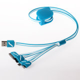 Colorful Portable 1m Multi Charging USB Cable 4 in 1