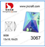 Flat Back Mirror Glass Beads with Hole
