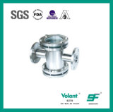 Stainless Steel Sanitary Four-Way Sight Glass