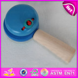 Mini Colorful Hand Bell Wooden Castanet, Wooden Musical Instruments Castanets for Baby W08k021b