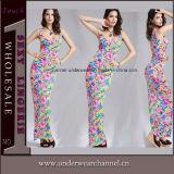 Women Elegant Flower Printed Long Maxi Dress (TLL1079)