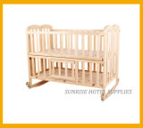 Hotel Safety Wooden Folding Baby Crib Baby Cot