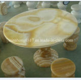 Honey Green/White/Yellow Onyx for Table