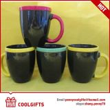 Rainbow Ceramic Coffee Cup with Colorful Print for Promotional Gift