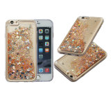 Loving Heart Liquid Glitter Quicksand TPU Mobile Phone Case