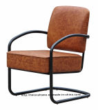 Modern Dining Coffee Restaurant Black Metal Wire Upholstered Chairs