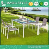 New Design Textile Dining Set Dining Set Outdoor Sling Dining Set Stackable Chair Sling Chair