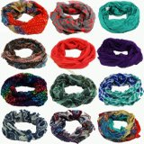 Lady Fashion Voile Loop Scarf Multi Printed Designs in Stock