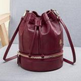 Designer Bucket Bags Custom Ladies String Handbag Leather Bag Emg4722
