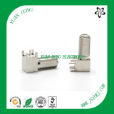 90 Degree Right Angle 75 Ohm Through Hole F Female to Male Jack