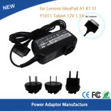 12V 1.5A 18W Adapter for Lenovo Ideapad A1/K1/S1 Y1011 Tablet