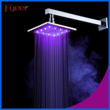 Fyeer Square Stainless Steel LED Rainfall Shower Head
