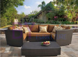 American-Style PE Rattan Outdoor Indoor Restaurant Sofa Set