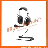 Helicopter Noise Cancelling Headset with Flexible Microphone