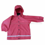 PU Solid Raincoat for Children/Baby