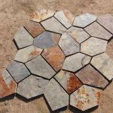Rusty Natural Slate Mosaic Tiles Paving Stone