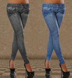 Women Fashion Sexy Fold Printed Slimming Leggings (89715)