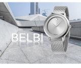 Belbi Thin Stainless Steel Watch OEM Western Watches Japan Movt Stainless Steel Logo Custom Men Wrist Watch