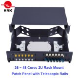 """24~48 Cores 19"""" 1u/2u Fiber Optic Rack Mount Patch Panel ODF"""