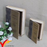 Wooden Book Holder Antique Decorative Storage Box