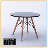 Modern Simple Round Beech Wood Leg Dining Table