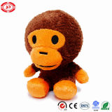 Brown Soft Tiny Sitting Cute Well Stuffed CE Monkey Toy