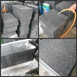 Flamed G654 Dark Grey Granite Flooring Tile Natural Stone