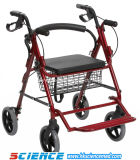 Aluminum Foldable Transport Rollator with Footrest (SC-RL06(A))