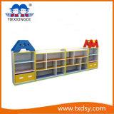 High Quality Preschool Kids Wood Shoes Shelf