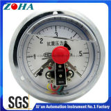 Shock Resistance Electric Contact Pressure Gauge with Oil Filled