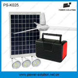 10W Solar Lighting System with 3 Bulbs, FM Radio MP3 and Ceiling Fan