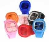 New Fashion Colorful Changeable Face Silicone Jelly Watch