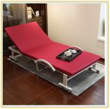 Leisure Folded Bed with Mattress 190*90cm Red Color